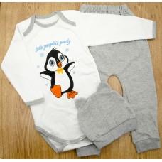 Комплект детский MirAks SC-4867-01 Grey (Серый/боди+штанишки+шапочка/начес/накат)