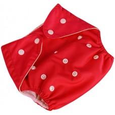 Подгузник многоразовый Qianqunui NR-4213 Red (Красный/регулируемый размер/многоразовый/под вкладыш)