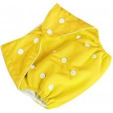 Подгузник многоразовый Qianqunui NR-4213 Yellow (Желтый/регулируемый размер/многоразовый/под вкладыш)