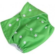 Подгузник многоразовый Qianqunui NR-4213 Green (Зеленый/регулируемый размер/многоразовый/под вкладыш)