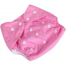 Подгузник многоразовый Qianqunui NR-4213 Pink (Розовый/регулируемый размер/многоразовый/под вкладыш)