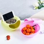 Блюдо для снека МирАкс БС-5054 розовое