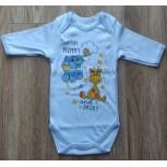 Боди с длинным рукавом детский MirAks БД-5003-00 Голубой (Интерлок/накат)