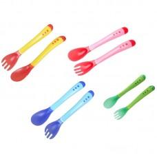 Набор ложка и вилка для детей MirAks FS-4171 (Меняет цвет от температуры)