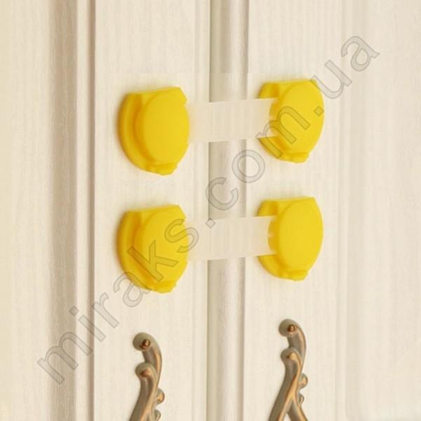 Замок на мебель от детей универсальный МирАкс ЗД-3674 Желтый